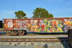 Daks (FR8 ADDICT) Tags: daks network fs freighttraingraffiti boxcarart gondolas wge