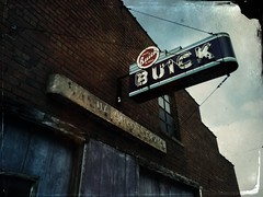 the buick garage is closed today...(abandoned buick garage-illinois) (Aces & Eights Photography) Tags: abandoned abandonment decay ruraldecay oldgarage abandonedgarage