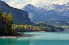 Lake in Rockies (Caulker) Tags: canada rockymountains lake september 2014