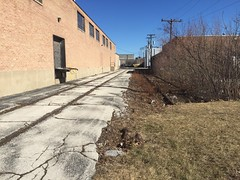 Tom Burke Photo Merrimac Avenue Morton Grove IL February 18 2017 #5 (Tom J. Burke) Tags: mortongrove il railroad switch spur milwaukeeroad salerno