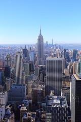 The Empire State Building (^Joe) Tags: architecture city building view newyorkcity newyork nyc usa america totr topoftherock manhattan midtown