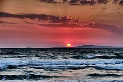 Waves in the sunset (JB Fotofan) Tags: özdere türkiye türkei turkey sunset sun sea waves wellen lumixfz1000 meer sonne sonnenuntergang
