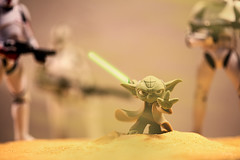 Battle of Geonosis (3rd-Rate Photography) Tags: macro 30 canon toy starwars yoda florida disney 100mm figure videogame jacksonville lightsaber 365 clonetrooper toyphotography geonosis earlware 3rdratephotography disneyinfinity