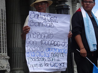 Demo die den Präsidenten zum Rücktritt auffordert am 29. Aug. 2015
