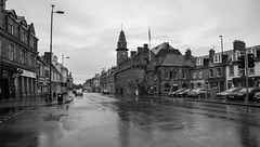 Musselburgh High Street & Tolbooth (BusterBB001) Tags: street city longexposure urban building tower castle tourism water stone gardens architecture night dark landscape boats 50mm scotland riverclyde town still memorial cityscape colours harbour scottish commercial jail council keep historical townhall british colourful cultural blackness musselburgh burgh tolbooth busterbrown fisherrow canon6d