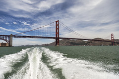 GGB On The Fly (LifeLover4) Tags: sanfrancisco bridge water architecture structure goldengatebridge boating speeding marinheadlands kirbycove ftpoint ggb bonitapoint lifelover4 stickneydesign
