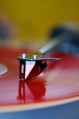 Needle Drop Red (Jim Skovrider) Tags: nikon ortofon nikkor afsvrmicronikkor105mmf28gifed capturenx d300s nikond300s
