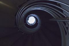 Twist (Imthearsonist) Tags: eye mystery stairs dark vanishingpoint dof twist escalera handrail redondo circular puntodefuga eyecatching crculos peldaos pasamanos canont3i