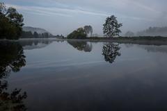Bavarian River Scene