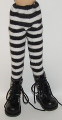 Black And White Stripped Tights For Blythe..