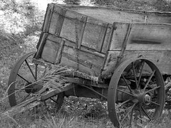Old Wagon (Wits End Photography) Tags: wood old blackandwhite bw white black abandoned broken monochrome wheel metal rural america circle wagon outside blackwhite illinois rust midwest alone exterior outdoor decay country spoke neglected arc rusty pale wear ring faded forgotten american round worn oxidation lone vehicle weathered cart discarded forsaken curve damaged left solitary rejected corrosion bleached circular faint outcast washedout dumped castaside discolored