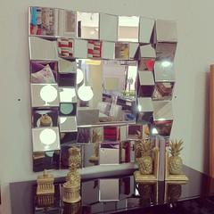 Espelho quadriculado (Mara Design) Tags: decorao abacaxi decoraes