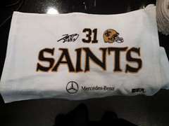 Byrd Towel (skooksie) Tags: neworleans saints superdome towell louisianasuperdome jairusbyrd