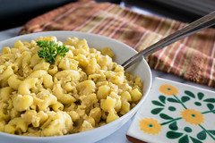 vegan mac and cheese (Husbands That Cook) Tags: vegan lemon tofu casserole pasta vegetarian garlic mustard turmeric thyme macandcheese nutritionalyeast veganomicon veganmacandcheese