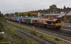 Eastleigh 66232 (davidhann34016) Tags: mod eastleigh class66 ews marchwood 66232