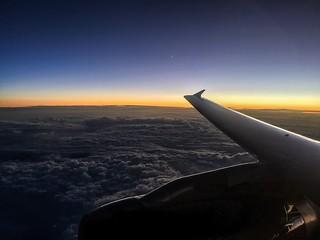 Sun setting over Austria