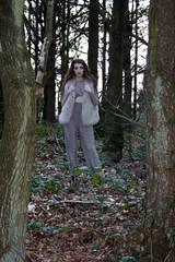 Location Fashion Photography: Woodland (amybyn) Tags: fashion woodland fur photography woods natural location jurgen teller neutral