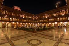 The courtyard of Laxmi Niwas Palace (cesaredefaveritron) Tags: india night canon eos courtyard palace tokina palazzo notte bikaner maharaja stelle laxmi niwas 700d