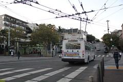 2001-2003 ETI 14TrSF #5486 (busdude) Tags: bus san francisco trolley railway muni eletric municipal trolleybus skoda eti trolleycoach 14trsf