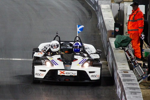 David Coulthard in The Race of Champions, Olympic Stadium, London, November 2015