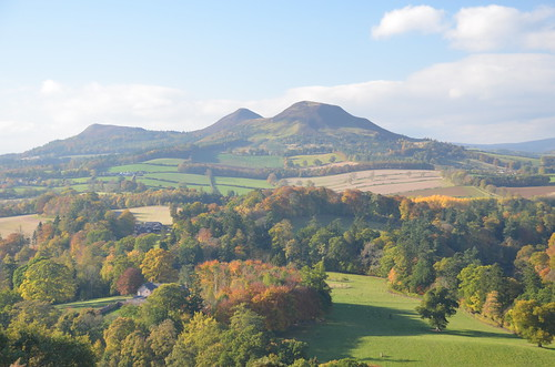 the Eildons from Scott's View, nr St. Boswells, October 2015
