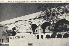 Hall of the Western Streets - 1939 Golden Gate International Exposition - San Francisco, California (The Cardboard America Archives) Tags: sanfrancisco california vintage expo linen postcard exposition 1939 worldsfair