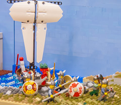 Battle through the Ages:  Viking Raid on Iona Abbey (SEdmison) Tags: history lego military battle convention timeline iona viking norse ionaabbey brickcon battlethroughtheages brickcon2015