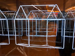 if you live in a glass house (Ian Muttoo) Tags: house toronto ontario canada reflection reflections mirror neon mirrors gimp sp 20151218110504edit