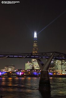 Millennium Bridge and Shard Xmas lights