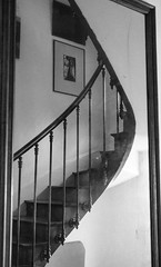 Staircase (Chris Bertram) Tags: coursagethouse france loire mirror niikond7000 nikond7100 spainandfrance2016 staircase