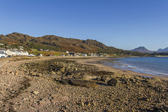 Gairloch (Kev Gregory (General)) Tags: looking from gairloch towards charlestown along shore loch garloch ard lalltaig dominates background scottish scotland highlands kev gregory holiday tour canon 7d sea