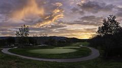 Sunrise before rain (aidong_ning) Tags: sunrise clouds golfcourse