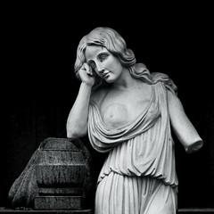 Woman and Grief (x1klima) Tags: hannover niedersachsen deutschland de sel85f14gm engesohde burialplace cemetery grabstätte friedhof architecture art abandonment blick tod sterben death grave culture licht light leben kunst grab emptiness einsamkeit pain schmerz leid qual qualen kummer mühe aching ache grief trauer gram hurt distress not bedrängnis verzweiflung leiden soreness mourning trauern trauerzeit sorrow sorge betrübnis traurigkeit misery elend misere affliction harm agony misfortune sadness nude braless girl woman ilce7r sony a7r fe 85mm f14 gm sonyfe85mmf14gm