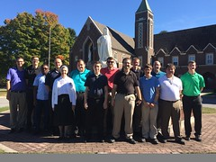Seminarians and Sr. Mary Andrew at Carmelite Monastery in Loretto PA - September 2015