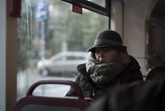 la nanna (marco monetti) Tags: portrait ritratto woman donna hat cappello scarf sciarpa lananna asleep sleepinginthebus dormendonellautobus windowpane vetrodelfinestrino windowseat sedileaccantoalfinestrino bologna