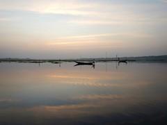 Fisherman at Purbasthali horshoe lake