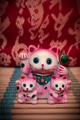 Lucky Cat Family (CarusoPhoto) Tags: lucky cat asian bamboo design john caruso carusophoto iphone 7 plus statue