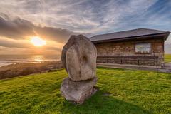 Bending over monument Porthcawl (technodean2000) Tags: bending over backwards porthcawl south wales uk nikon d610 sunset