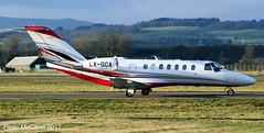 LX-GCA C525 Glasgow Jan 2017 (pmccann54) Tags: lxgca cessna525b