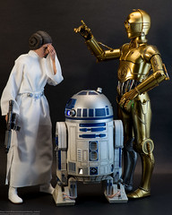 Just Another Day at Rebel Headquarters (edwicks_toybox) Tags: 16scale c3po anewhope anthonydaniels carriefisher femaleactionfigure hottoys kennybaker princessleia r2d2 sideshowtoys starwars