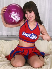 You Do Happy Like A Star (emotiroi auranaut) Tags: girl woman lady beauty beautiful happy happiness pretty cute adorable gorgeous attractive fetching sweet delight delightful babe female feminine femininity charm charming happynewyear red white blue purple star song music toy balloon skirt legs nice cheerful