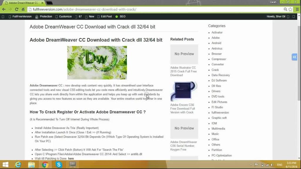 adobe dreamweaver cs6 crack download