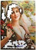 A Girl with a Cat and Flowers (Emile Vernon) (Leonisha) Tags: puzzle jigsawpuzzle unfinished