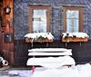 Winter idyll (:Linda:) Tags: germany thuringia village bürden snow bench mailbox slateshingled two window flowerbox