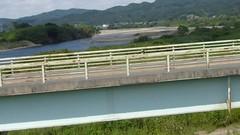 Cycling bridge over Abukuma R (Stop carbon pollution) Tags: japan 日本 honshuu 本州 touhoku 東北 miyagiken 宮城県