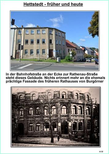 Hettstedt-Bahnhofstraße 30,früher u. heute