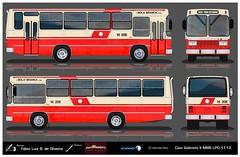 14 208 Viação Bola Branca - Caio Gabriela - Mercedes-Benz LPO 1113 (busManíaCo) Tags: busmaníaco desenho drawing drawn urbanos ônibus 14 208 viação bola branca caio gabriela mercedesbenz lpo 1113