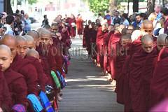 30099727 (wolfgangkaehler) Tags: 2017 asia asian southeastasia myanmar burma burmese mandalay mahagandayonmonastery mahagandayonmonastary people person monks buddhist buddhistmonasteries buddhistmonastery buddhistmonk buddhistmonks almsceremony almsbowls meal