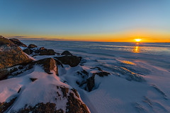Icy shore (ArtDvU) Tags: sunset dusk icy frozen seaside seashore shore baltic sea gulf bothnia ostrobothnia bergö malax finland canon eos 7d mkii winter 1020 wideangle sigma