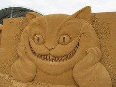Cheshire cat (Joybelle007) Tags: sand sandsculpture frankston funny clever